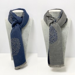 Lucy Cobb Accessories Winnie Reversible Pashmina in Navy