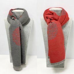 Lucy Cobb Accessories Winnie Reversible Pashmina in Red
