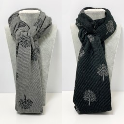 Lucy Cobb Accessories Crinkle Willow Scarf - Black