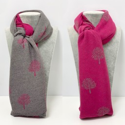 Lucy Cobb Accessories Crinkle Willow Scarf - Fuchsia