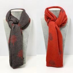 Lucy Cobb Accessories Crinkle Willow Scarf - Red