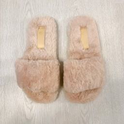 Lucy Cobb Footwear Codie Fluffy Slippers  in Mocha