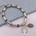 Tree of Life Beaded Bracelet - Silver