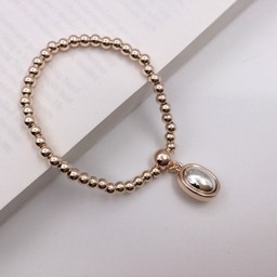 Lucy Cobb Jewellery Circle Charm Bracelet - Rose Gold