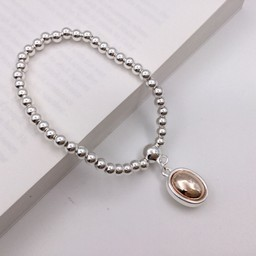 Lucy Cobb Jewellery Circle Charm Bracelet in Silver
