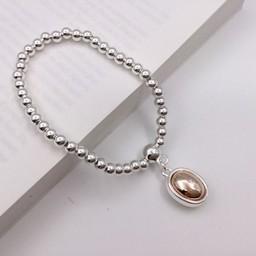 Lucy Cobb Jewellery Circle Charm Bracelet - Silver