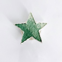 Lucy Cobb Jewellery Star Strong Magnetic Brooch - Green