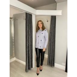 Lucy Cobb Skylar Spot Jumper - Silver Grey