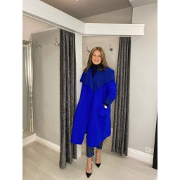 Lucy Cobb Jasmine Wool Coat - Royal