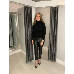 Lucy Cobb Petra Polo Neck in Black