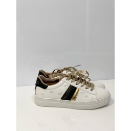 Lucy Cobb Bee Embroidery Trainers in White