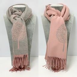 Lucy Cobb Willow Reversible Pashmina in Baby Pink