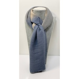 Lucy Cobb Accessories Ripley Check Scarf in Denim Blue