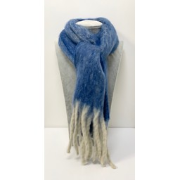Lucy Cobb Accessories Adriatic Chunky Scarf - Azure Blue