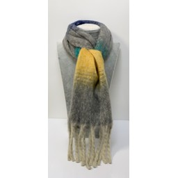Lucy Cobb Accessories Shellie Colour Block Scarf - Grey Mix