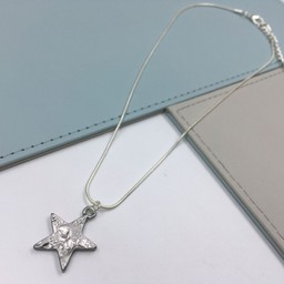 Lucy Cobb Jewellery Gemini Star Short Necklace  in Grey