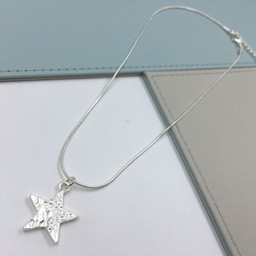 Lucy Cobb Jewellery Gemini Star Short Necklace  - Silver