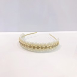 Lucy Cobb Accessories Pearl Embellished Headband - White