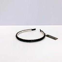 Malissa J Crystal Thin Headband  - Black (90)