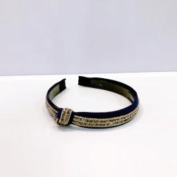 Lucy Cobb Accessories Sparkle Knot Headband - Navy