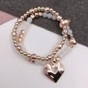 Harper Heart Bracelet - Rose Gold