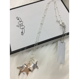 Lucy Cobb Jewellery Sofia Star Short Necklace  - Silver/Rose Gold