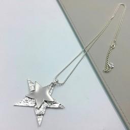 Lucy Cobb Jewellery Scorpio Star Necklace - Silver