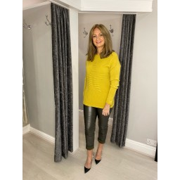 Lucy Cobb Rebecca Ribbed Star Jumper in Mustard