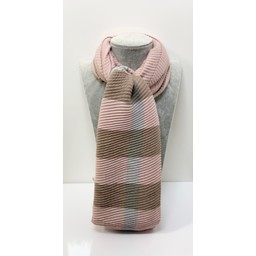 Lucy Cobb Accessories Crinkle Check Scarf - Baby Pink