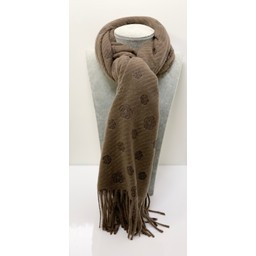 Lucy Cobb Camillia Cashmere Scarf - Taupe
