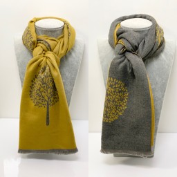 Lucy Cobb Accessories Winnie Reversible Pashmina in Mustard