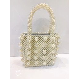Lucy Cobb Accessories Penelope Pearl Top Handle Bag - Ivory
