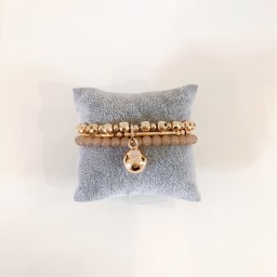 Lucy Cobb Jewellery Layered Beaded Bracelet - Rose Gold