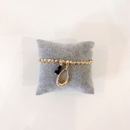 Lucy Cobb Jewellery Oval Beaded Bracelet - Gold
