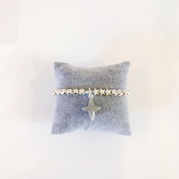 Lucy Cobb Jewellery Star beaded Bracelet - Silver