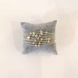 Lucy Cobb Jewellery Layered Star Bracelet - Silver