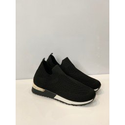 Lucy Cobb Footwear Sock Trainers - Black & White