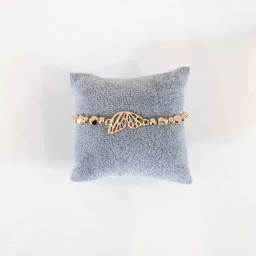 Lucy Cobb Jewellery Butterfly Wing Bracelet  - Rose Gold