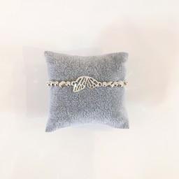 Lucy Cobb Jewellery Butterfly Wing Bracelet  in Silver