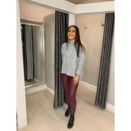 Lucy Cobb Claudia Cable Knit Jumper in Silver Grey
