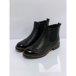Lucy Cobb Footwear Brogue Ankle Boots in Black
