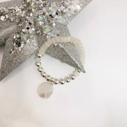 Lucy Cobb Jewellery Callie Circle Charm Bracelet - Silver