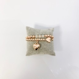 Lucy Cobb Jewellery Heidi Heart Bracelet - Rose Gold