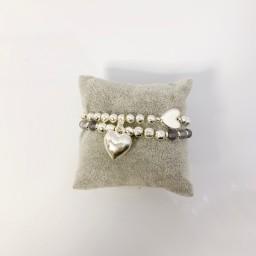 Lucy Cobb Jewellery Heidi Heart Bracelet - Silver