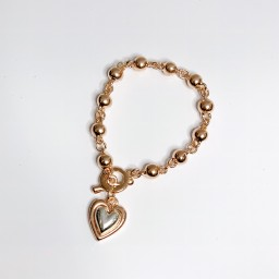 Lucy Cobb Jewellery Hannah Heart Bracelet  - Rose Gold