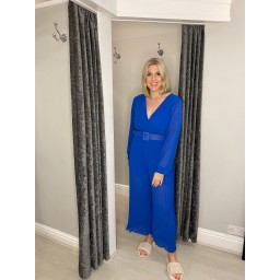 Lucy Cobb Pleated Two Way Jumpsuit in Royal