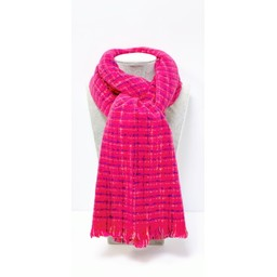 Lucy Cobb Accessories Blair Boucle Scarf - Fuchsia