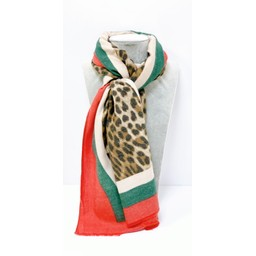Lucy Cobb Accessories Gracie Animal Print Scarf in Brown Animal Print