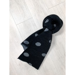 Lucy Cobb Spot Crinkle Scarf in Black