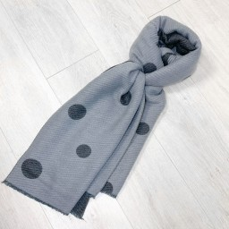 Lucy Cobb Spot Crinkle Scarf in Slate